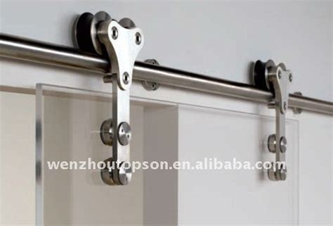 Sliding Glass Barn Door Hardware Stainless Steel Glass Sliding Barn Door Closet Hardware Set View Barn Door Hardware Kinmade