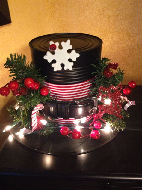christmas hat themes snowman hat centerpieces diy frosty hat decoration