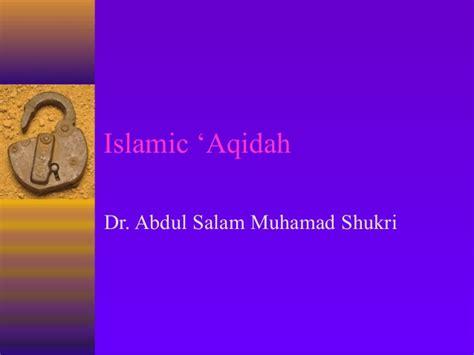 Aqidah Syari islamic aqidah definition