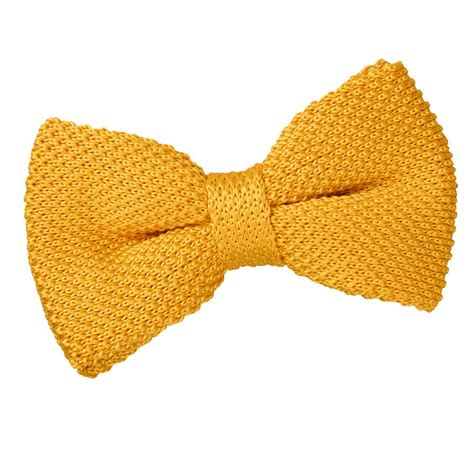 yellow pattern bow tie men s knitted marigold yellow bow tie