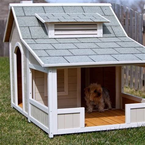 dog houses with porches precision outback savannah dog house with porch