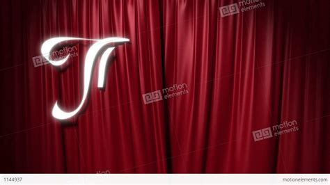 the curtain with closing red curtain with a title quot the end quot stock animation