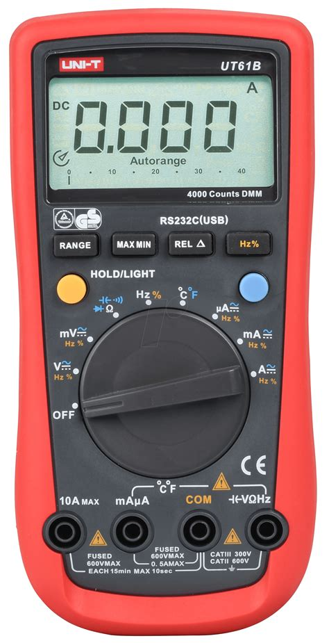 Multimeter Elektronik ut 61b uni t digital multimeter 4000 counts usb at