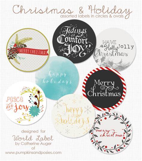 printable christmas circle tags christmas holiday assorted circle and oval labels