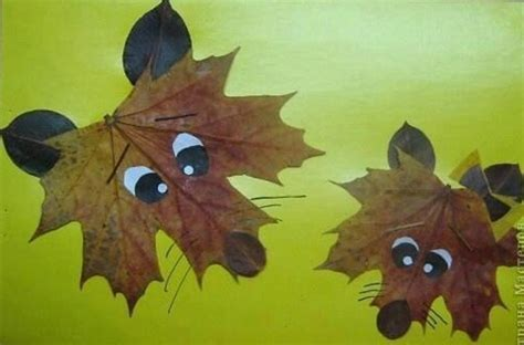 autumn leaf crafts for 15 cool applique ideas from autumn leaves kidsomania