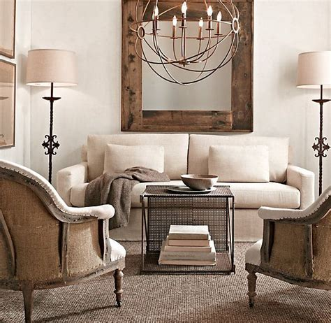 restoration hardware living room house ideas pinterest restoration hardware living room love the chandelier