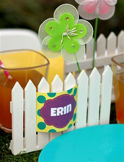 spring themed names diy name cards for a kids spring party theme party ideas