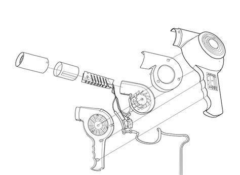Assembly Of Hair Dryer the hair dryer on risd portfolios