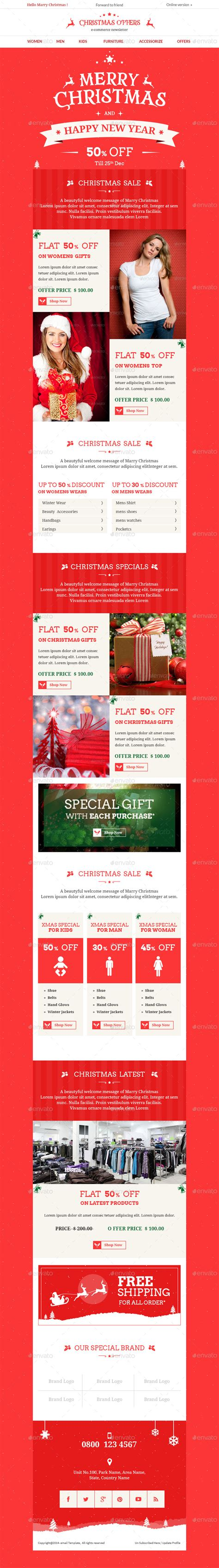 photoshop template offer christmas offers e commerce e newsletter psd template by