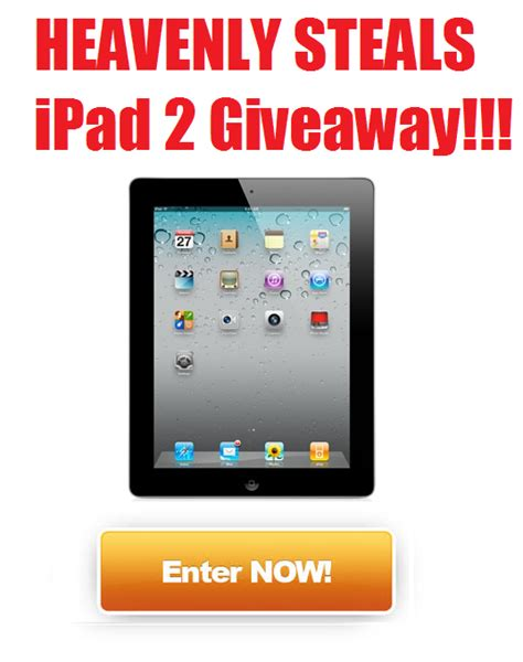 Ipad 2 Giveaway - heavenly steals ipad 2 giveaway winner announced heavenly steals