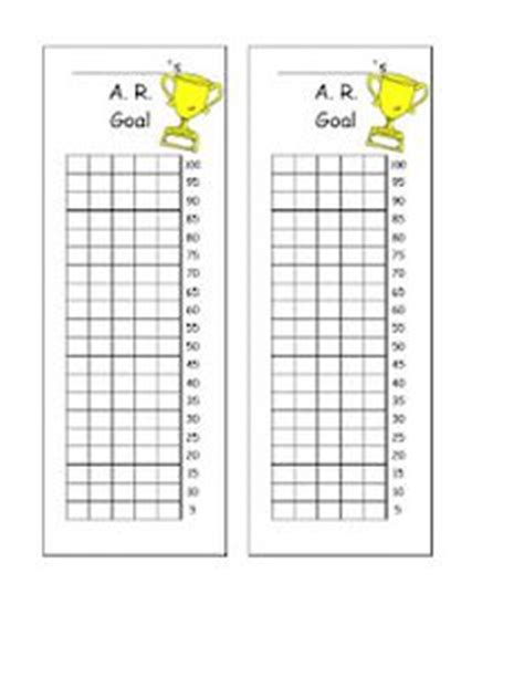 printable ar goal sheets ar accelerated reader on pinterest free printable