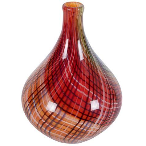 striped teardrop glass vase at 1stdibs