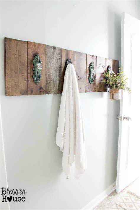diy bathroom rack diy antique door knob towel rack