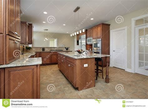 Kitchen Center Island Plans kitchen with large center island royalty free stock