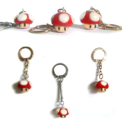 Mario Comes To With Keyrings And Swaying Mushrooms by Keyrings For Sale By Sancosity On Deviantart