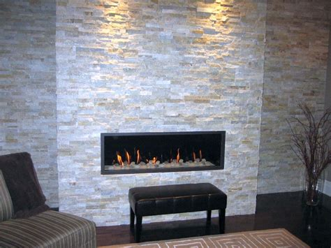 stone fire places contemporary built in stack stone fireplaces