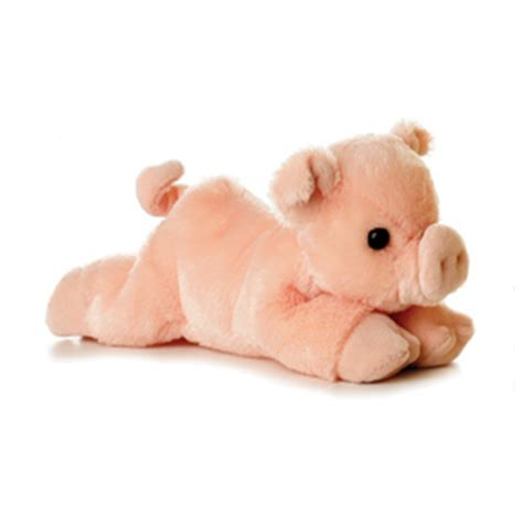 stuffed pig percy the plush pink pig by