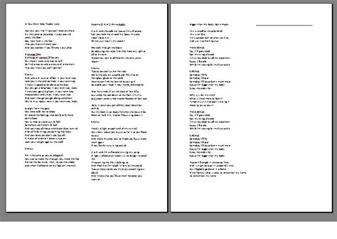 songwriting template songwriting template 28 images the book report lyrics