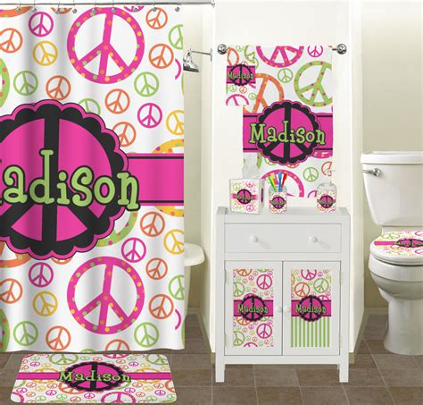 peace sign bathroom peace sign hand towel full print personalized potty