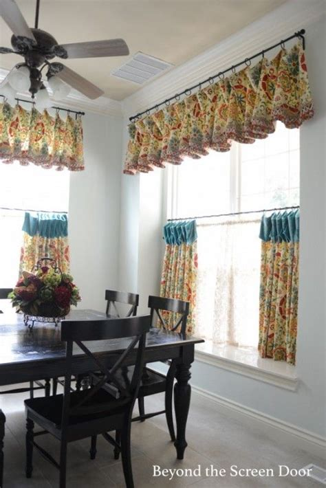 kitchen cafe curtains ideas kitchen cafe curtain and valance http www beyondthescreendoor bsd sh designs window