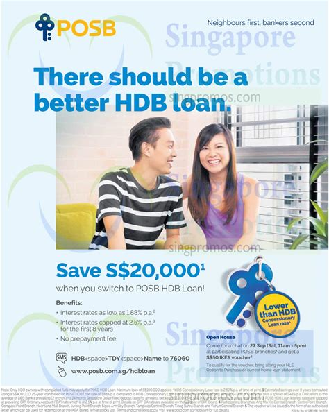 posb hdb loans free 50 ikea voucher open house 27 sep 2014
