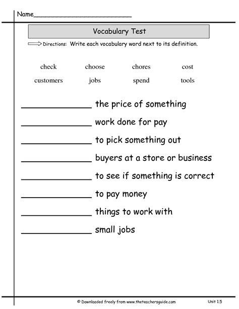 vocabulary test 5 grade vocabulary words and definitions seventh grade