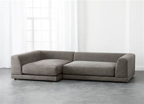 low back couch uno 2 piece sectional sofa with a low back decoist
