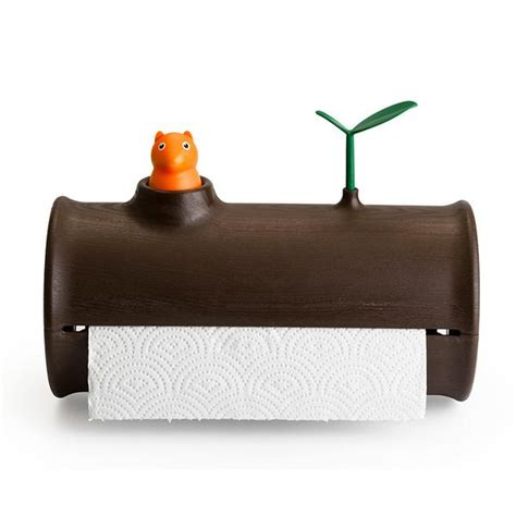 table paper holder squirrel log table counter top paper towel tissue holder