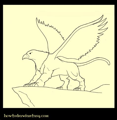 animal mitologico grifo como dibujar c 243 mo dibujar un grifo
