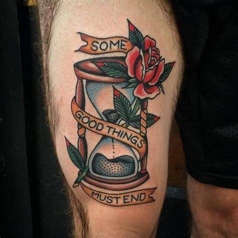 tattoo old school hourglass significato tatuaggio clessidra