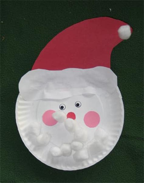 Santa Paper Plate Craft - craft day