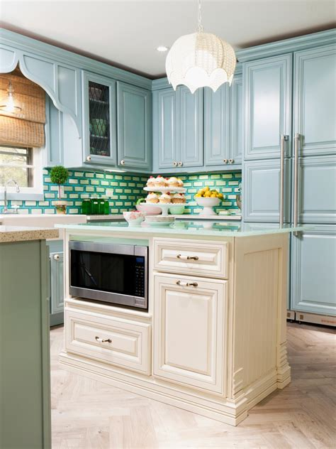 blue color kitchen cabinets kitchen decoration