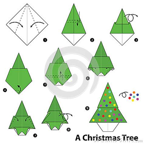 step by step instructions how to make origami a christmas