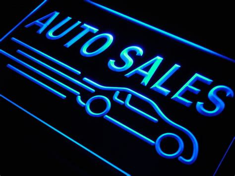 a a auto sales automotive motorcycle shacksign custom neon