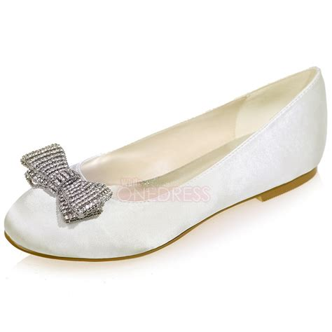 Satin Flats Bridal by S Satin Flat Wedding Bridal Shoes Prom Evening