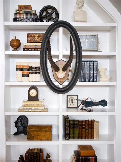 how to decorate bookshelves bookshelf and wall shelf decorating ideas hgtv