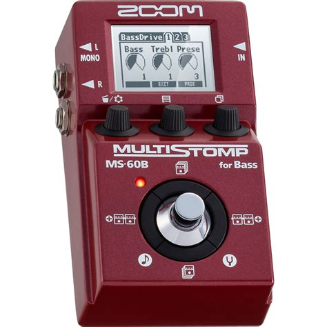 Zoom Multistomp zoom ms 60b multistomp bass guitar effect pedal ms60 multi