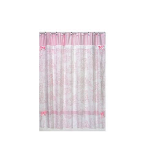 pink toile shower curtain sweet jojo designs pink toile shower curtain