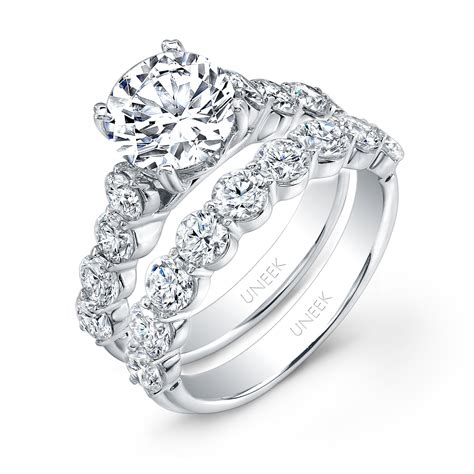 5 Classically Engagement Ring Styles by Uneek Solitaire 14k White Gold Engagement Ring