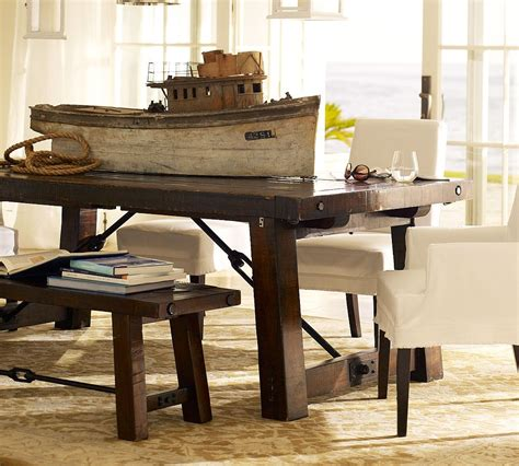picnic style dining room table dining table pottery barn wright dining table