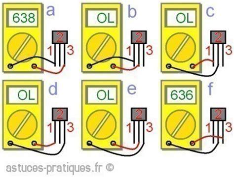 test de diode avec multimetre le transistor bipolaire test au multim 232 tre astuces pratiques