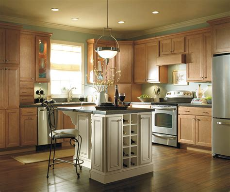 lights for kitchen cabinets light maple kitchen cabinets homecrest cabinetry