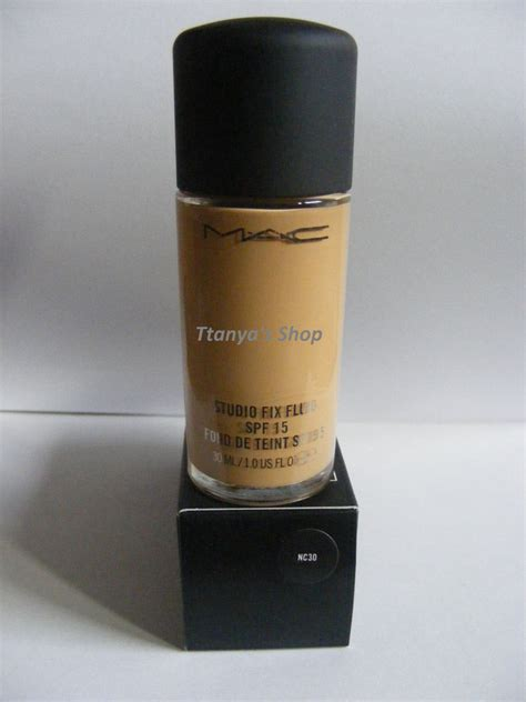 Mac Studio Fix Foundation 390rb mac foundation studio fix fluid foundation nc30 spf 15