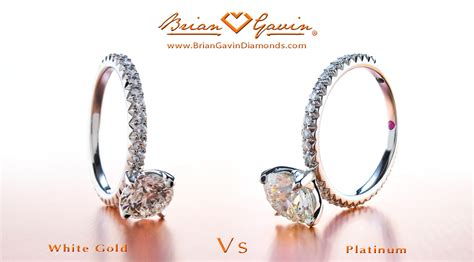 white gold vs platinum for engagement rings jewelry
