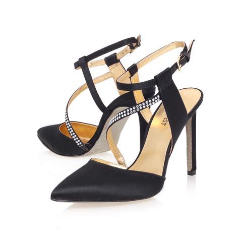 nine west high heel sandals nine west tanessa22 high heel sandals in black lyst
