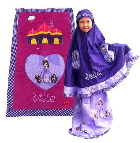 Mukena Princess Garden Ungu S mukena anak lucu toko bunda