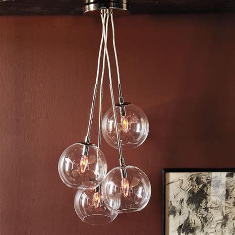 cluster globe pendant lighting cluster glass pendant west elm