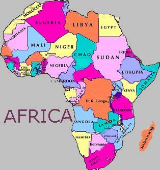 map of africa with country name countries names www pixshark images