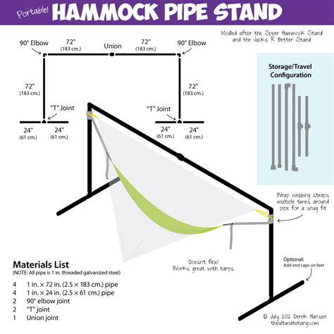 How To Make A Hammock How To Make A Diy Portable Hammock Stand