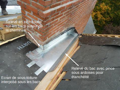 solin de cheminee couverture en zinc 224 tasseaux sur habitation 224
